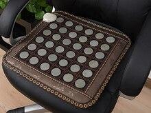 2016 Most Popular Jade Cushion Germanium Cushion Health Care Jade Cushion Black Leather Germanium Stone Free Shipping