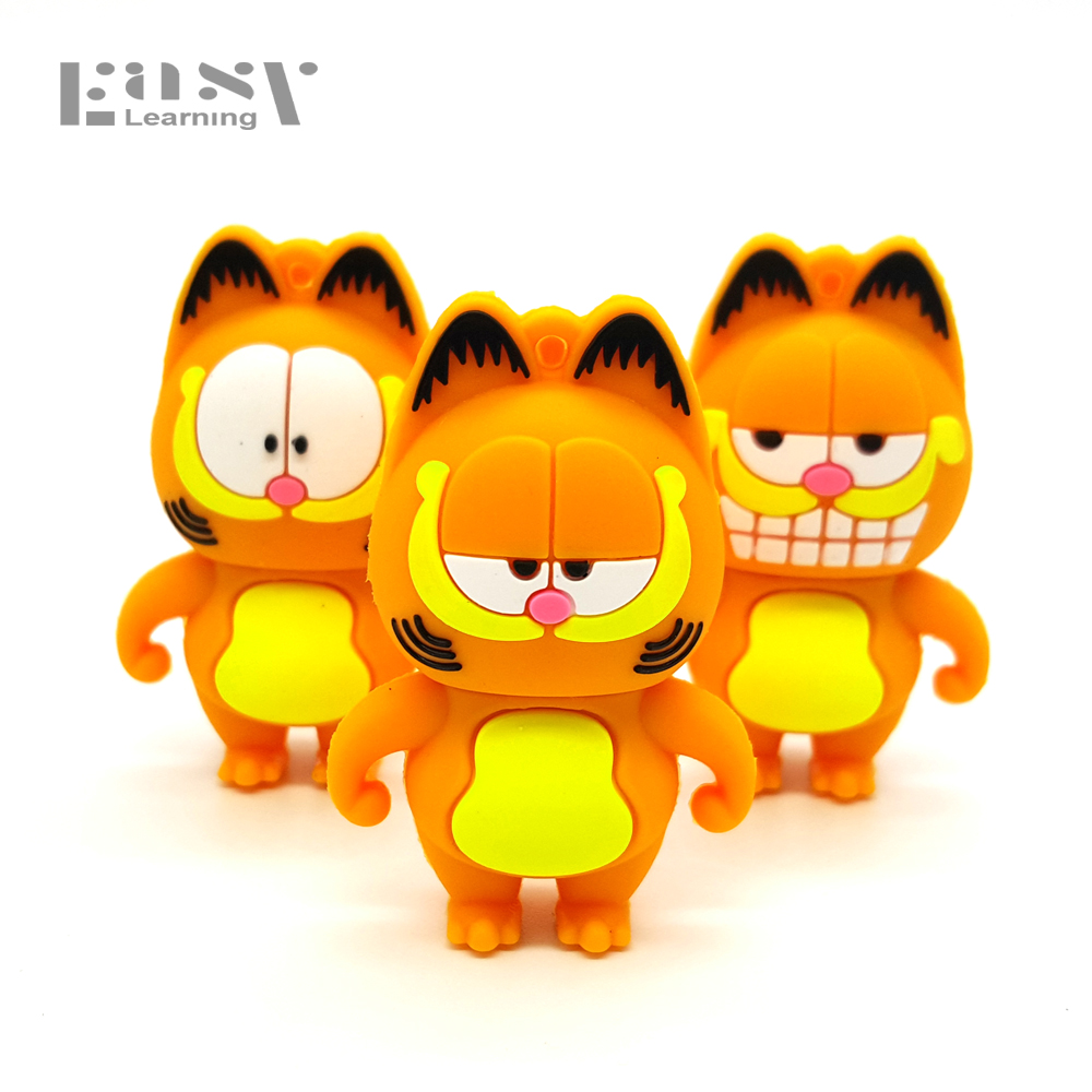 Easy Learning Cartoon Garfield USB Flash Drives USB 2.0 4GB 8GB 16GB 32GB 64GB Memory Stick Pen Drive Flash Card Pendrives графин tomic 1jst9127