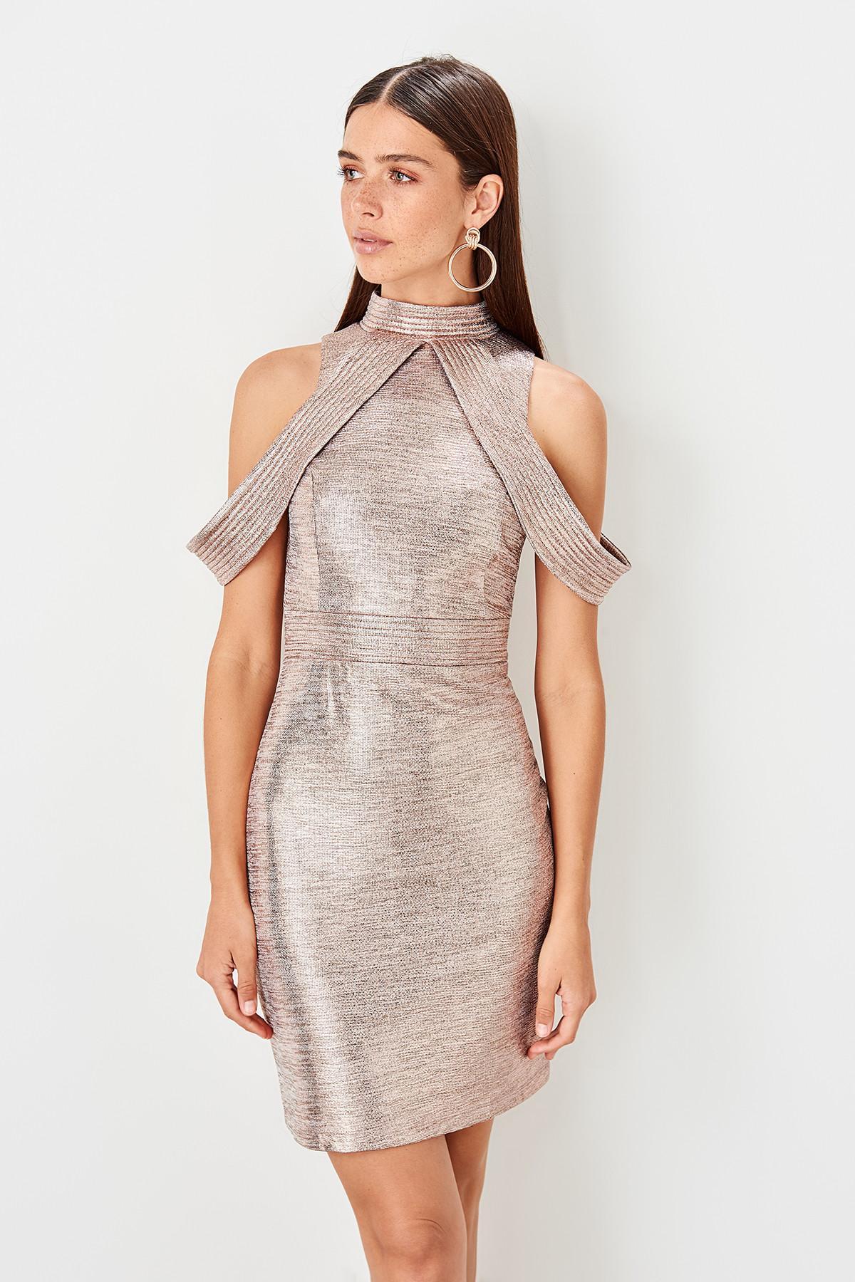 Trendyol Copper Collar Detail Dress TPRSS19FZ0580()