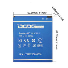 100% New DOOGEE X5 Battery 2400mAh New Replacement accessory accumulators For DOOGEE X5 Pro Cell Phone(China)