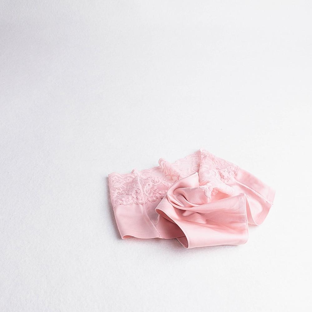 DULASI Sexy Silk Panties Women Underwear Seamless Lace Cotton Mid-Rise Cute Briefs For Girls Ladies Bikini Erotic Panty 4pcs/lot 4