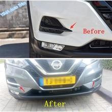 Lapetus Auto Styling Front Head Fog Lights Foglight Lamp Eyelid Eyebrow Cover Trim Fit For Nissan Qashqai J11 2018   2020 Chrome