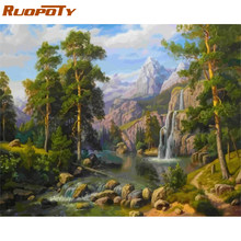 RUOPOTY Frame Picture Mountain DIY Painting By Numbers Acrylic Paint On Canvas Painting Unique Gift For Home Wall Decor 40x50cm(China)