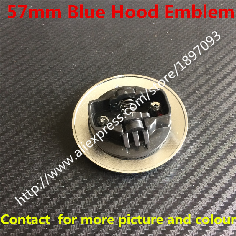 2pc New Car Styling 3D 57mm Blue black Hood Front Bonnet Badge <font><b>Emblem</b></font> For w124 w140 w163 w202 w203 w204 w210 <font><b>w211</b></font> image