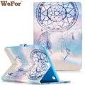 Pintura Capa de Silicone Capa De Couro para Samsung Galaxy Tab Um 9.7 SM-T550 T555 Virar Style Book Stand w/Titular do Cartão carteira