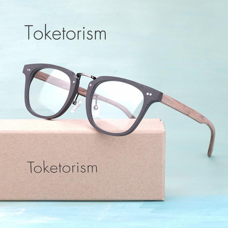 Toketorism Buatan Serat Kayu mode kacamata optik bingkai pria wanita - Aksesori pakaian - Foto 1