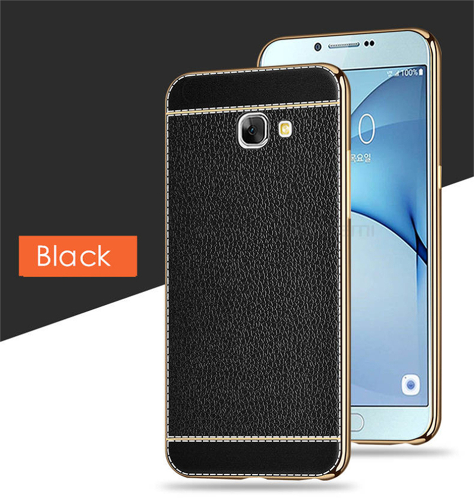 Litchi Grain Phone Cases For Samsung Galaxy A3 A5 A7 2016 Case Luxury Plating Frame TPU Covers For Samsung A310 A510 A710 Case (10)
