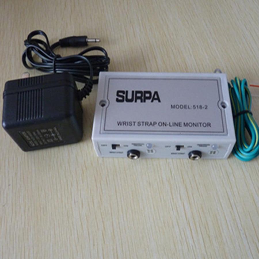 Surpa 518-2 Esd Antisatic Wrist Strap Monitor Anti Static Wrist Strap Online Monitor Free Ship Convenience Goods Tool Sets