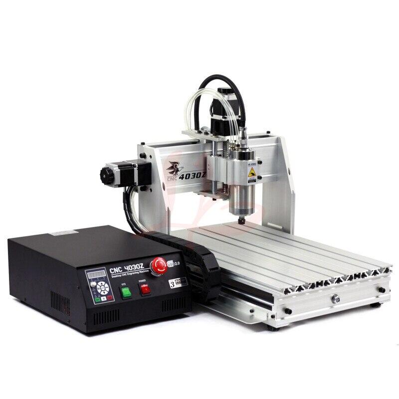 Haute précision MINI CNC routeur 4030 USB port 3 axes CNC travail du bois mschine avec broche de refroidissement à l'eau 800 w