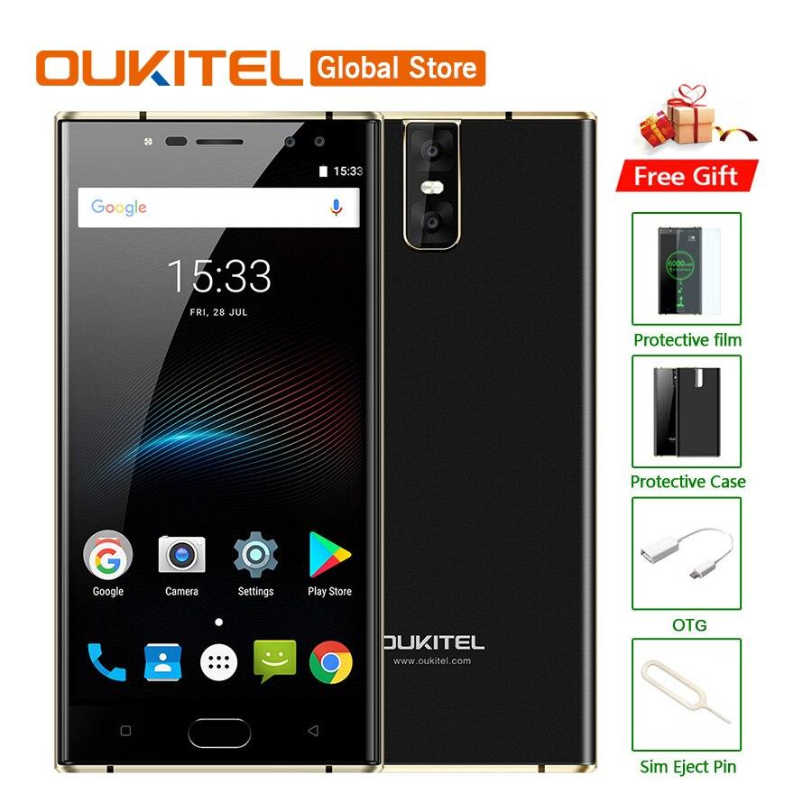 "Original Oukitel K3 Mobile Phone MT6750T Octa Core 4GB RAM 64GB ROM 5.5""FHD 1920x1080 13MP Four CAM Fingerprint 6000mAh"
