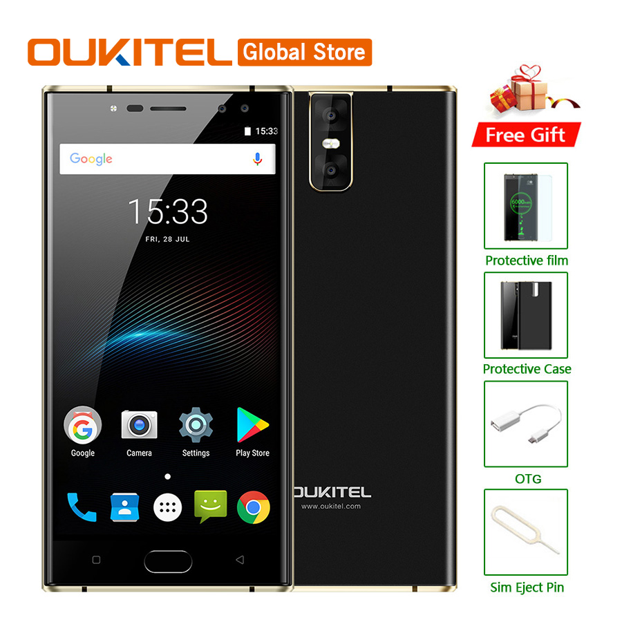 Original Oukitel K3 Mobile Phone MT6750T Octa Core 4GB RAM 64GB ROM 5.5″FHD 1920×1080 13MP Four CAM Fingerprint 6000mAh