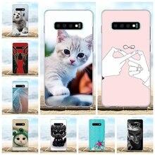 For Samsung Galaxy S10 Plus Case TPU G975F G975U G975W Cover Girl Pattern Capa