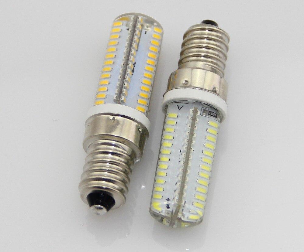 100 pcs/lot E14 3014 SMD 104 pièces LED Lustres En Cristal 12 W AC110V 220 V Maïs LED ampoule Blanc Froid/Blanc Chaud Remplacent la Lampe D'halogène