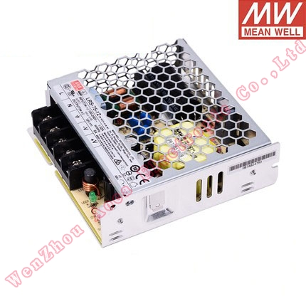 Original Mean well LRS-75 single output 75W 5V/14A 12V/6A 15V/5A <font><b>24V</b></font>/3.2A 36V/2.1A 48V/1.6A <font><b>meanwell</b></font> power supply Low Profile image