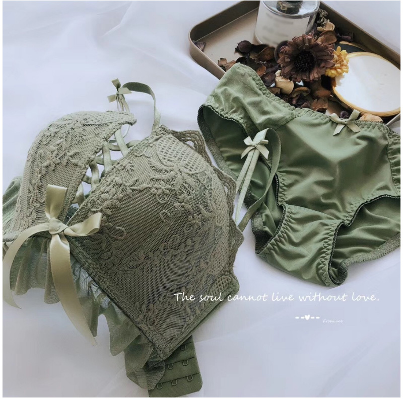 Women Sexy Lace Lingerie Bra Set Push Up Lingerie Set Adjusted-straps Underwear women Bra & brief And Panty Set (29)