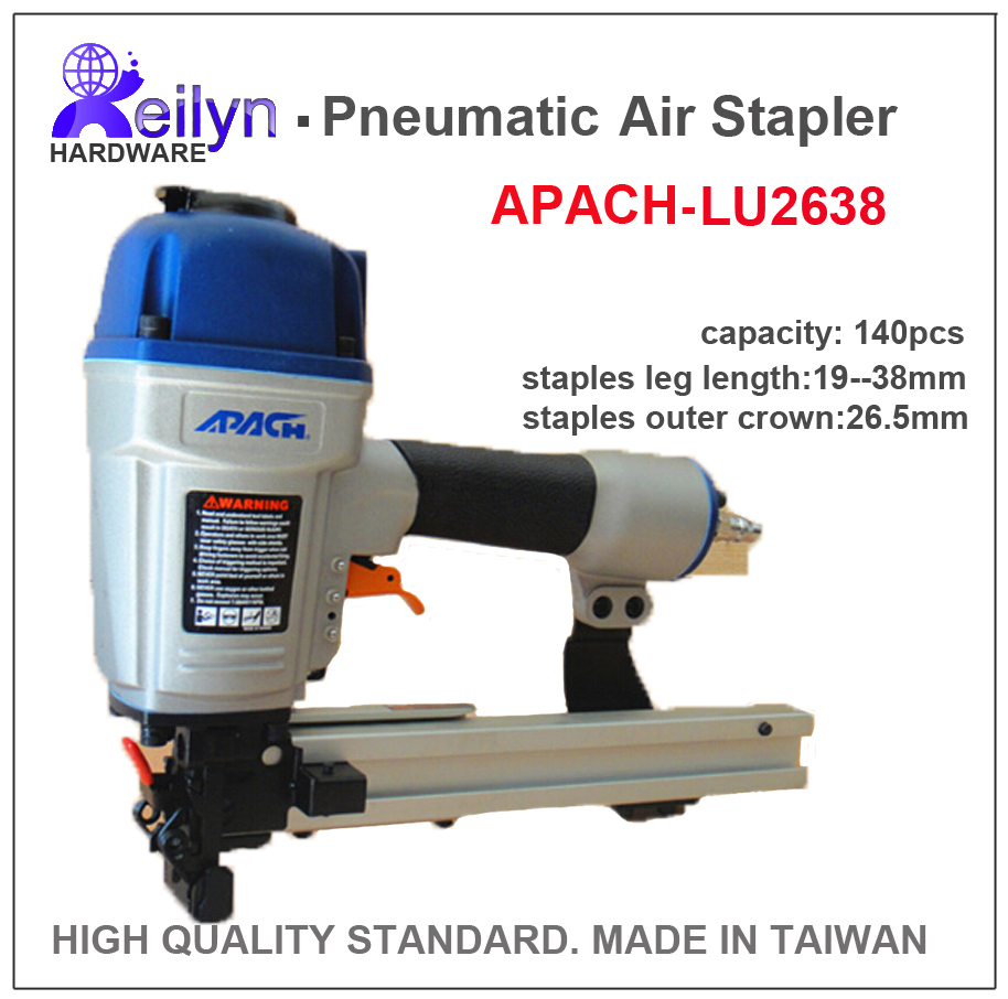 LU2638 APACH Industrial Air Stapler (Pneumatic Code Nail Gun ) made in Taiwan, high quality standard