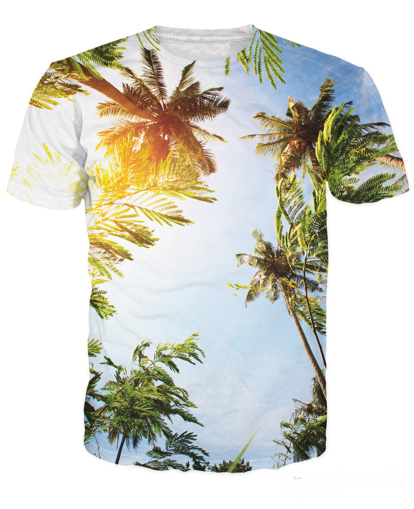 8872d18d64 US $15.99 |Free Shipping 3d Vibrant Palm Trees on a hot sunny day in Cali T  Shirt Sexy Tee cozy t shirt Summer Style t Shirt For Women Men-in T-Shirts  ...