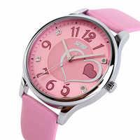 High Quality SKMEI Brand Leather Strap Watches Women Dress Watch Relogio Waterproof Ladies Watch Gift Clock