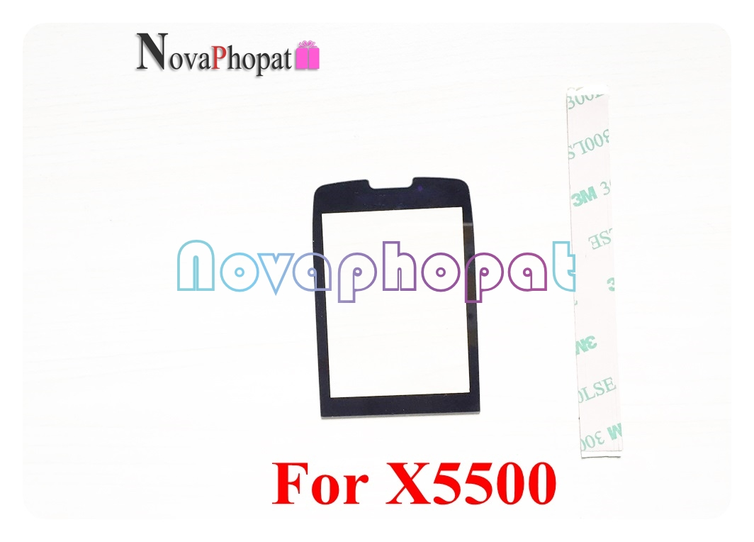 Novaphopat Black Front Glass Screen For Philips Xenium X5500 / X623 / X513 / E570 / E560 Outer Glass Lens Panel