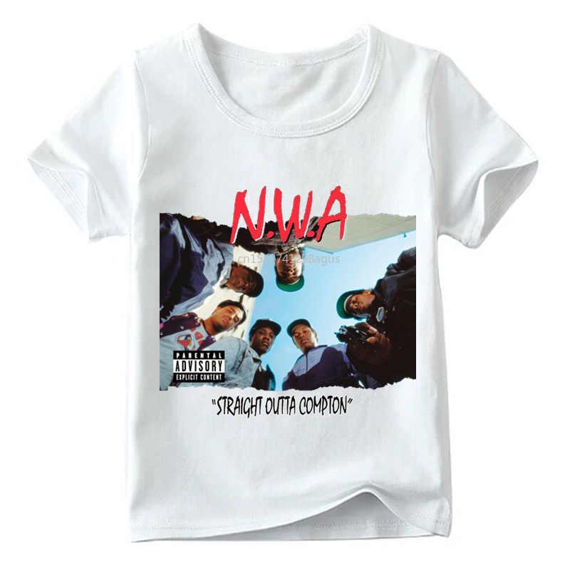 Dopasowane rodzinne stroje NWA Straight Outta Compton t-shirt z nadrukiem rodzina pasujące wygląd ubrania dla dzieci i mężczyzn i kobiet Funny Tshirt