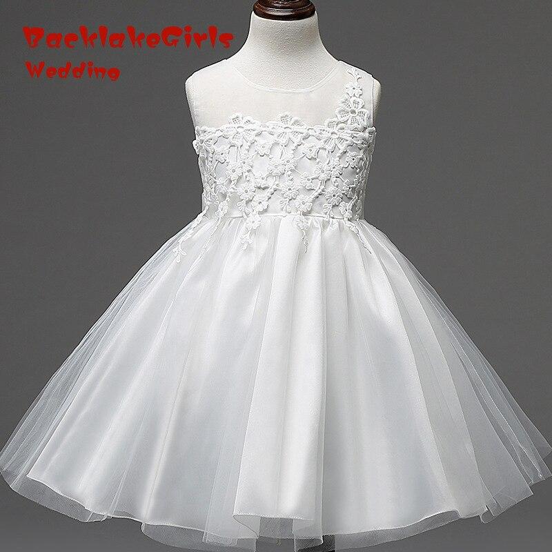 Hot Sale 2018 Elegant YIYI   Flower     Girl     Dresses   Bow Appliques Long Princess Party Pageant first communion   dresses   FD022