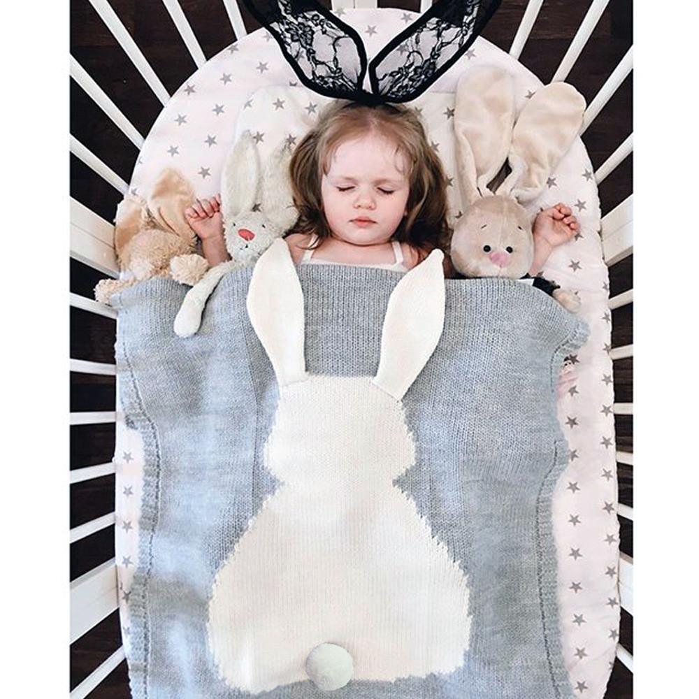 Baby Blanket Cute Rabbit Blanket Soft Warm Wool Swaddle Cute Absorbent Kids Bath Towel