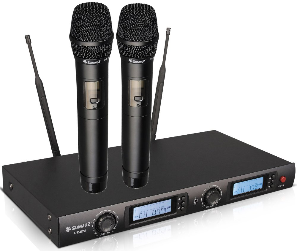pro 200 channel uhf diversity wireless handheld microphone mic system for large concert in. Black Bedroom Furniture Sets. Home Design Ideas