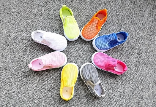 2016 Summer  Candy Color Children Sneakers Fashion Hollow-carved Shoes First Walkers Shoes For Baby Shoes GH02