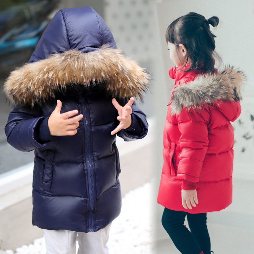 2017 Fashion boys and girls winter down Jackets Children Coats warm baby 100% thick duck Down Kids Outerwears 2-11Y 2016 winter new soft bottom solid color baby shoes for little boys and girls plus velvet warm baby toddler shoes free shipping