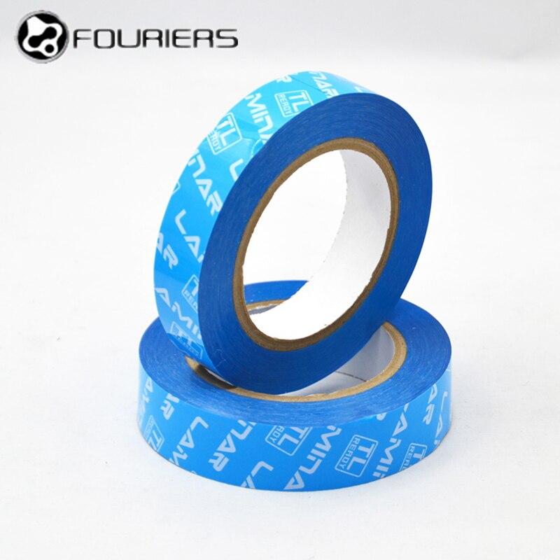 Fouriers MTB Road Bike Tubeless Rim Tape 19mm 22mm 24mm 28mm 33mm x 50 Meter Tubes Blue Bulk Roll Vacuum Tire Liner Bicycle Tape