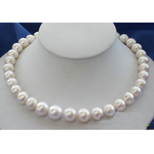 Unique Pearls jewellery Store Huge 12-14mm White Color Freshwater Pearl Necklace Charming Women Birthday Gift FN1028Unique Pearls jewellery Store Huge 12-14mm White Color Freshwater Pearl Necklace Charming Women Birthday Gift FN1028
