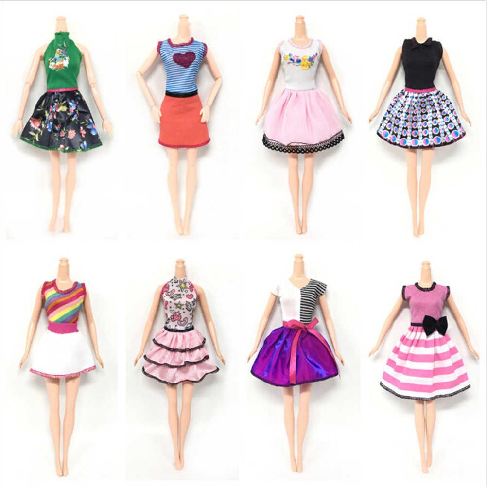 5 Juegos por lote, vestido de muñeca de diseño a la moda, vestido de fiesta Noble para muñeca, el mejor regalo para muñeca de niña, producto en oferta