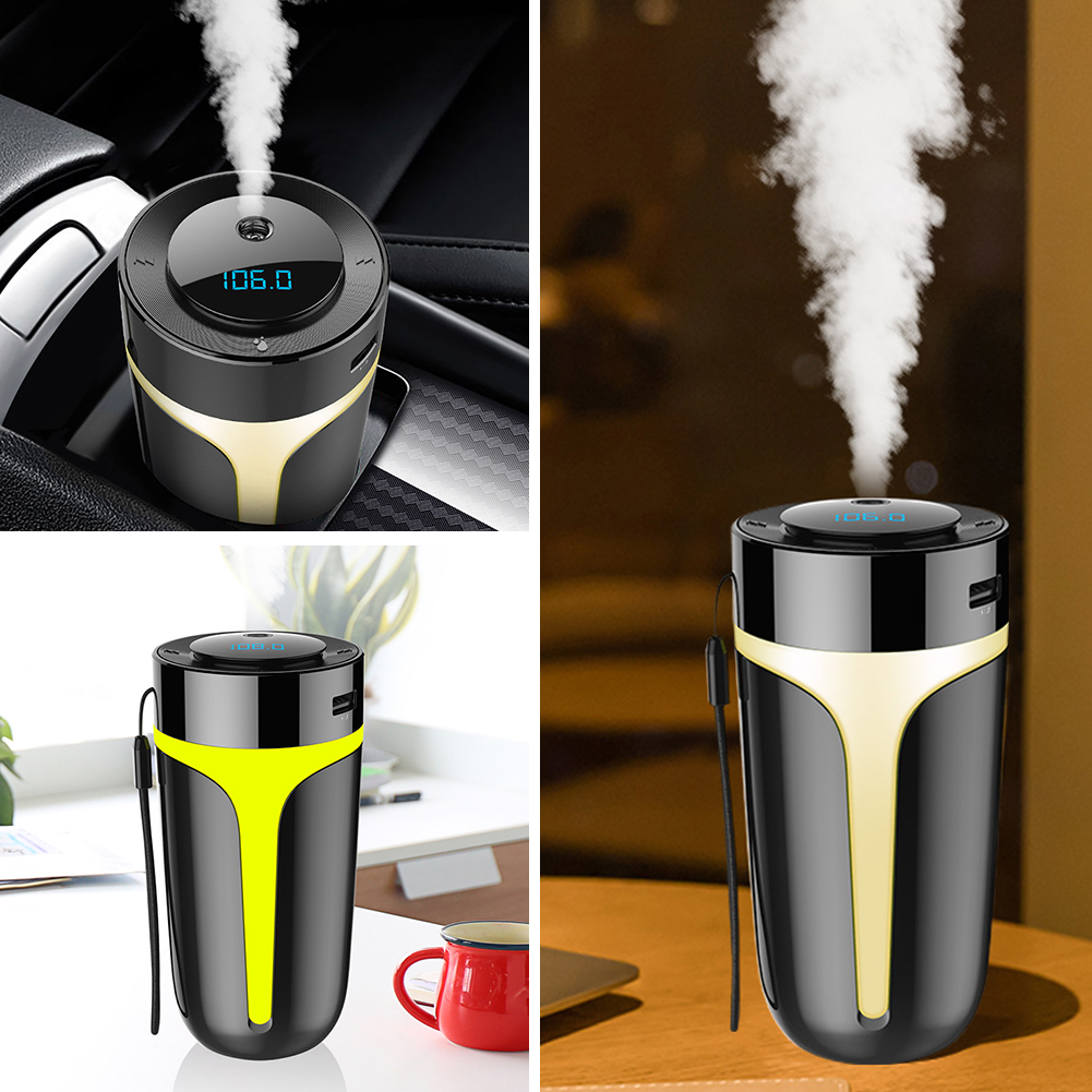 US $17.12 22% OFF|Professional ABS PC Black Car Smart Aromatherapy Humidifiers MP3 Player LED Display Home Bluetooth Air Purifier 300ML Water|Car Air