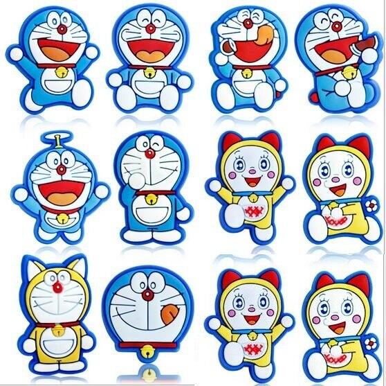 Childrens gift Cartoon Doraemon series shoe flower crocs Cartoon PVC shoe flower fashion plastic hole hole shoes buckle