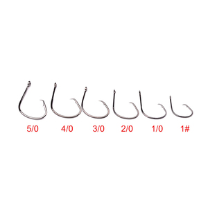Image 3 - NEW 50pcs/lot Fishing Hooks Octopus/Circle Sport Circle Fish Hook Jig Big 1# 5/0# Size Bass Black Color