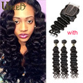 Cambodian Loose Deep Silk Base Closure With Bundles Cambodian Loose Wave with Closure Remy Cambodian Human Hair with Closure
