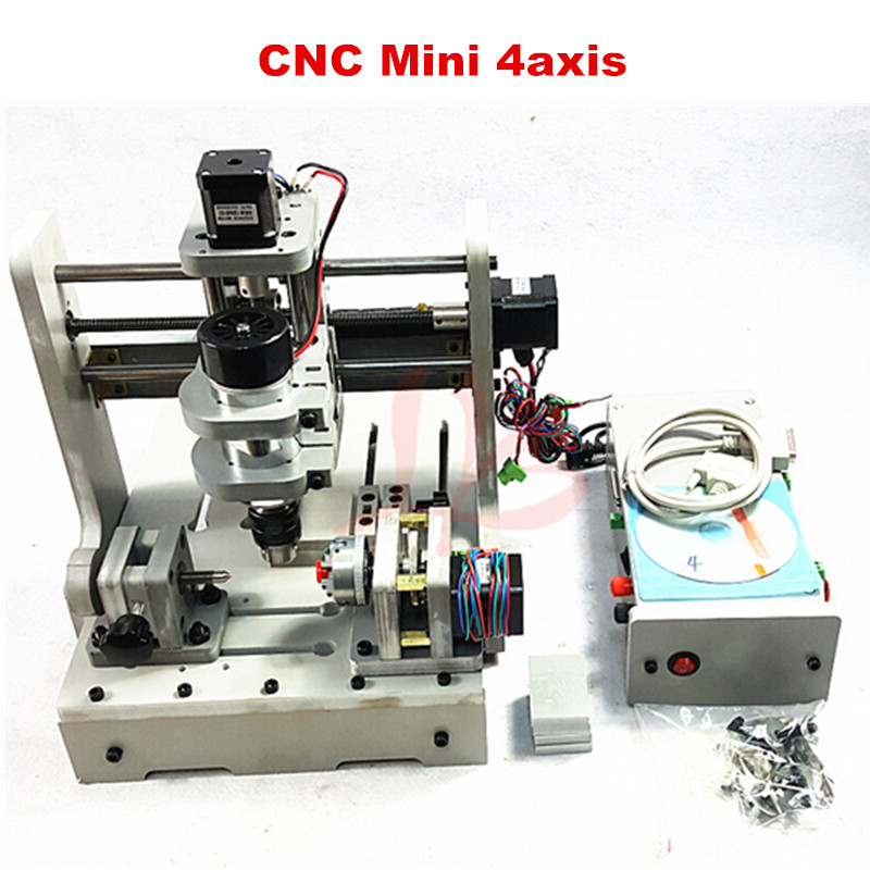 CNC router Mini engraving machine DIY Mini 4axis wood Router PCB milling machine mini cnc router machine 2030 cnc milling machine with 4axis for pcb wood parallel port
