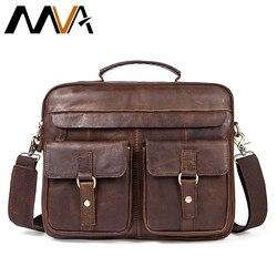 MVA torby męskie teczki/prawdziwej skóry skórzana torba na laptop torebki biurowe dla mężczyzn mężczyzna teczka  torba na laptop biznes tote dla dokument