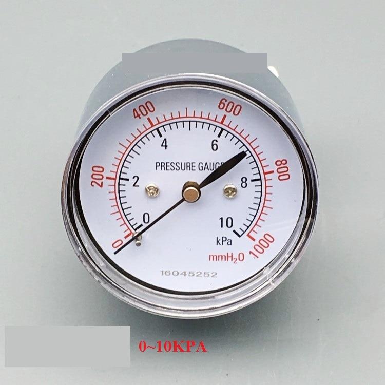 Axial type YE-60Z diaphragm pressure gauge gas pressure gauge water column 0~5 10 15 20 30KPA    thread R1/4  цены