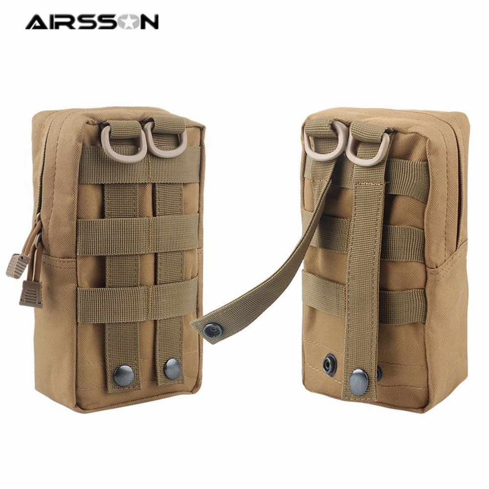 2Pcs Outdoor Military Tactical Molle Waist Pack Pouch Waterproof Sports Bag