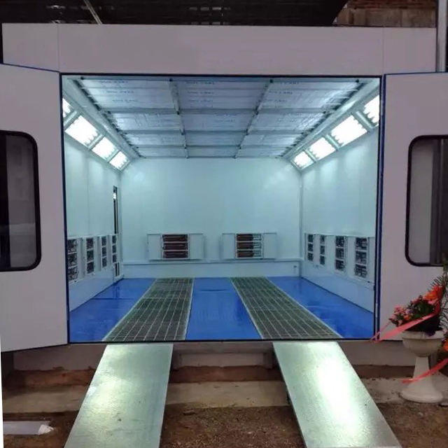 Hot Sale Car Painting Chamber Automotive Paint Spray Booth Indoor Install