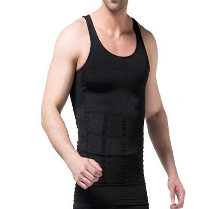 60a7ae38de Hemiks Men s Tanks Slimming Body Shaper Vest Belly Buster Compression  Tights Male Slimming Vests Men Fitted