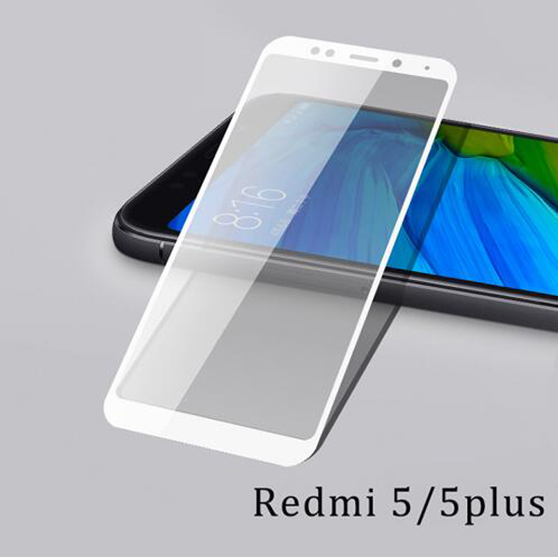 for xiaomi redmi 5 glass screen protector for xiaomi redmi 5 plus glass 2 5d Scratch resistant Explosion proof HD 9h in Phone Screen Protectors from Cellphones Telecommunications