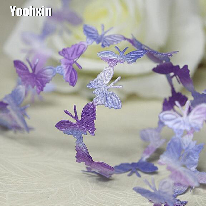 Luxury cotton blue yellow Embroidery Lace Fabric wide DIY applique collar trim ribbon Sewing cord dubai guipure dress decor in Lace from Home Garden