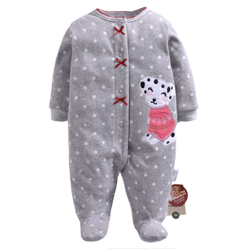 New Fashion Christmas Winter Baby Rompers Fleece Footed Baby Boys Clothes Infant Cartoon Baby Romper bebe Baby Girl Clothing snowmen infant christmas costume baby girl clothes red romper with hat roupas de bebe infant clothing kids christmas outfits