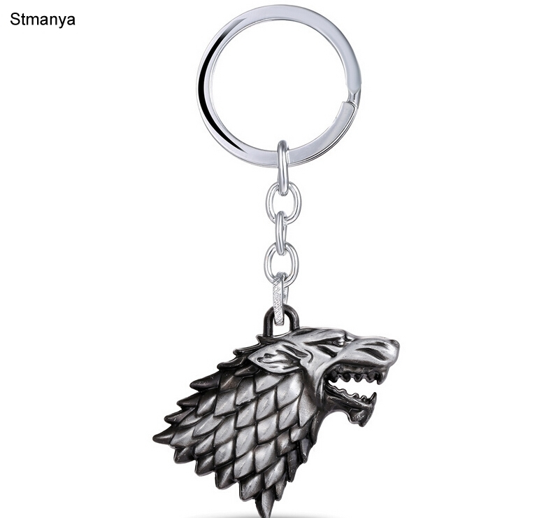 Fashion Wolf Car Key Chain Key Holder Thrones Game A Song of Ice and Fire Metal Keychain Pendant Key Ring Gift Jewelry 123 ...