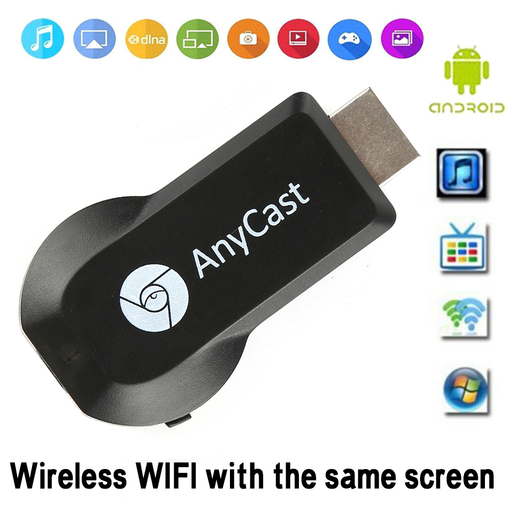 Anycast 2.4G/5G M100 /M9 /M9 Plus Ezcast Miracast AnyCast DLNA AirPlay HDMI TV Stick Wifi Display Dongle Receiver Google Youtub(China)