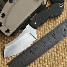John Mini Chopper KYDEX Sheath Hunting skin 9Cr18MoV Steel Fixed Blade Knife camping pocket knives EDC Kitchen survival tools