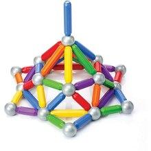 Ímã Bares & Bolas De Plástico Brinquedo de Construção Magnético Blocos de Construção de Brinquedos Para As Crianças DIY Designer de Menino EducationalXWJ479-