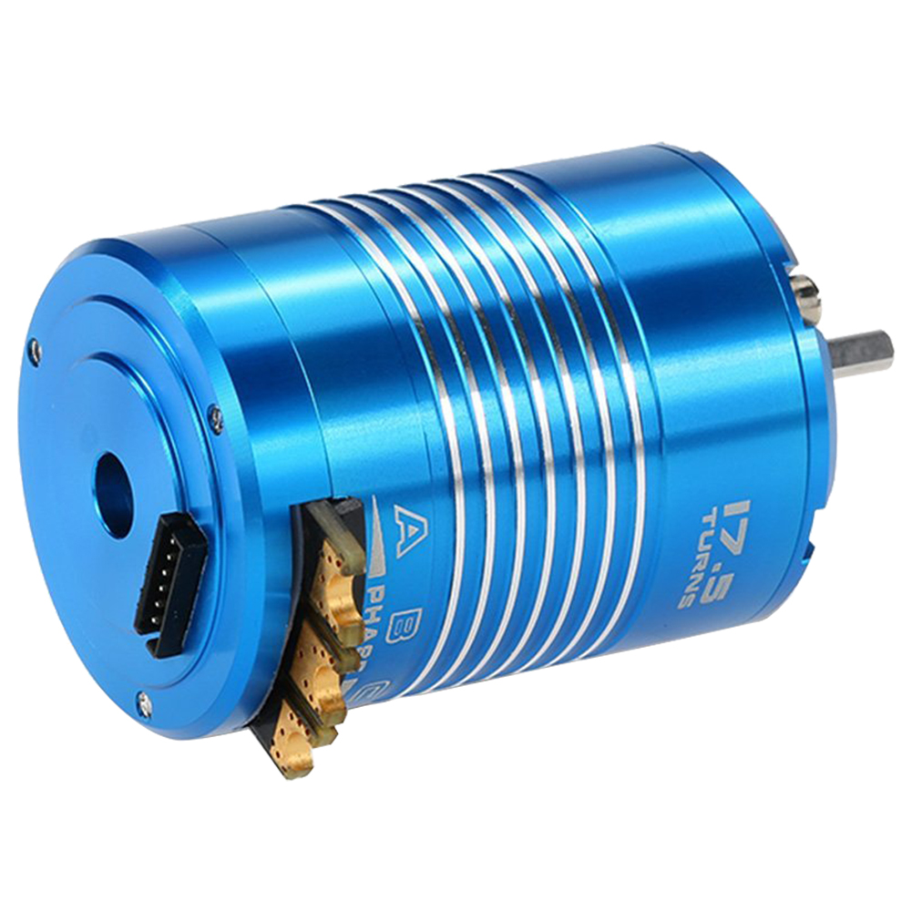 New High Efficiency 540 17.5T 2200KV Sensored Brushless Motor for 1/10 RC Car Truck new lang yu x4110s 340 400kv 460 680kv 580kv high efficiency multi axis disc motor